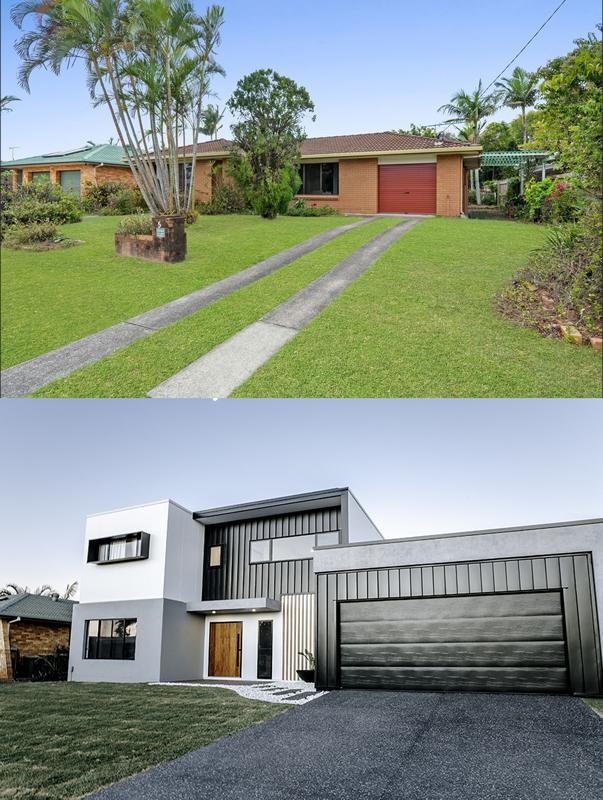 Buddina house renovation before after exterior