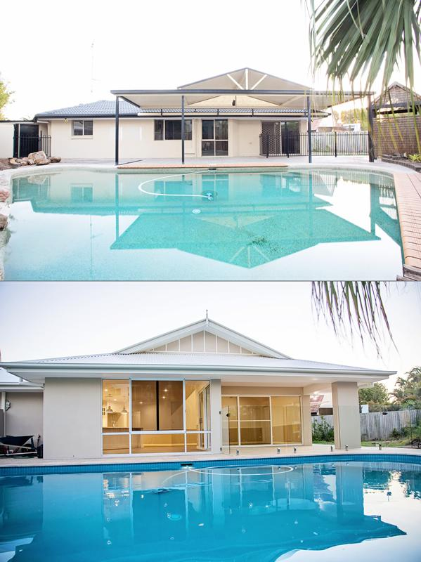 House & Pool Renovation Sunshine Coast Before After