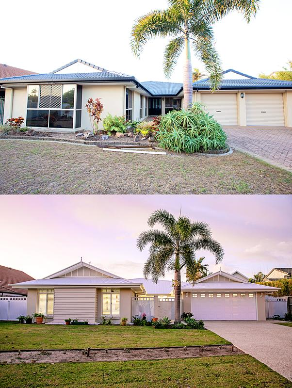 House Exterior Renovation Sunshine Coast Before After